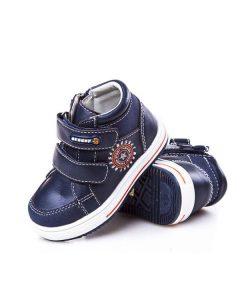 детские ботинки для мальчика на липучках синие 6261 фотография