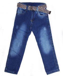 детские джинсы на мальчика утепленные с поясом 3231 фотография