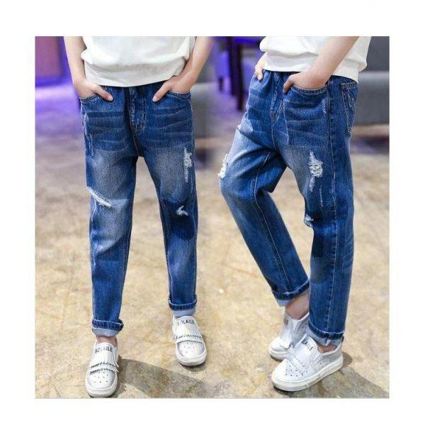 детские джинсы для мальчика с потертостями рванка 150517 фотография