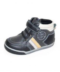 детские кожаные ботинки для мальчика 6235 фотография
