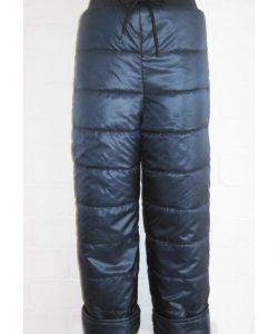 детские демисезонные штаны из плащевки, синие 170318 фотография