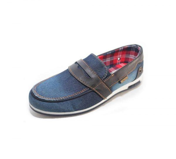 детские туфли мокасины джинс для мальчика 7216 фотография