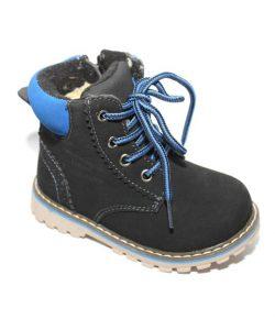 детские зимние ботинки для мальчика, нубук 1237 фотография