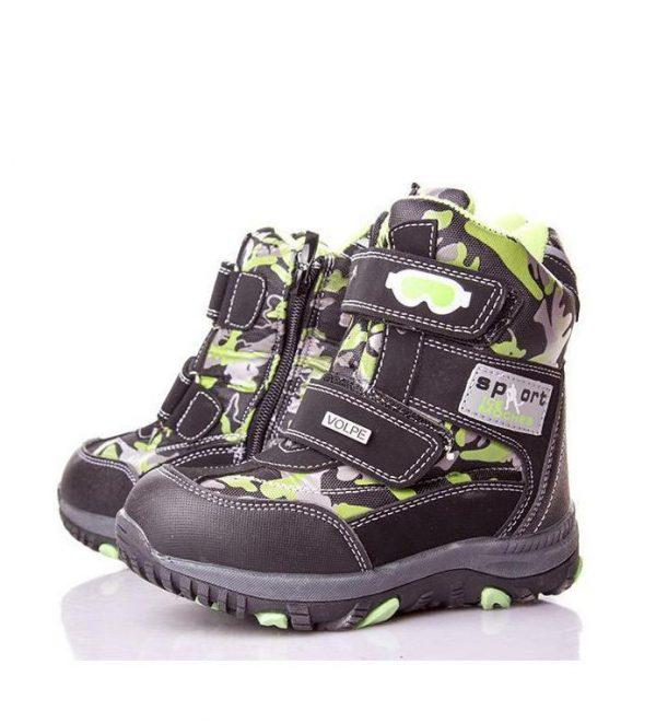 детские зимние ботинки для мальчика, термо 17116 фотография