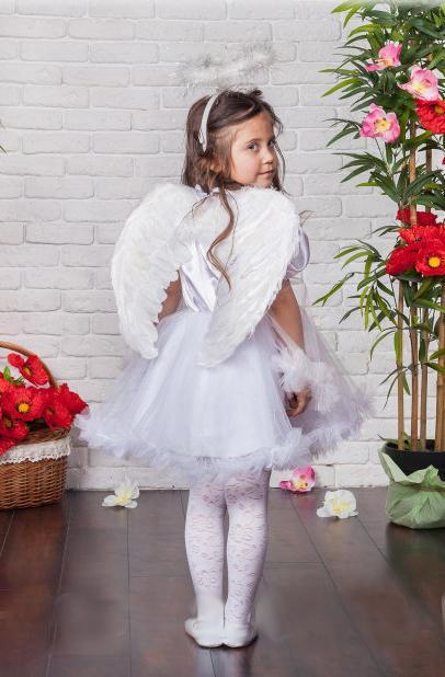 детский карнавальный костюм для девочки, ангелочек ангелок фотография