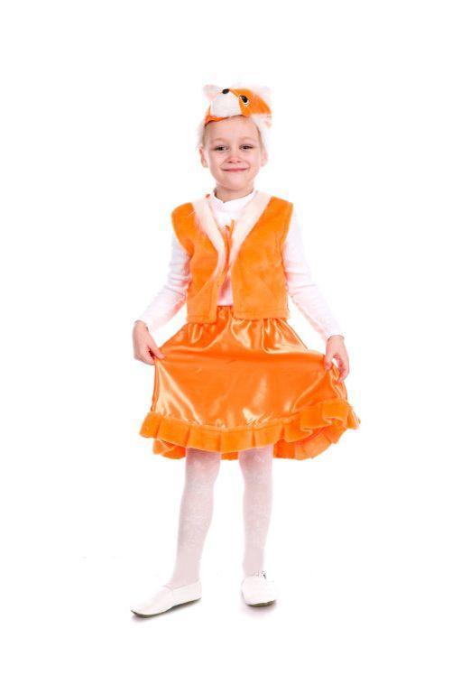 детский карнавальный костюм для девочки, лисичка лисичка фотография