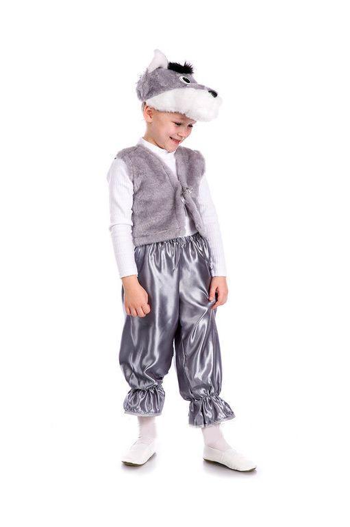 детский карнавальный костюм для мальчика, серый волк волк фотография