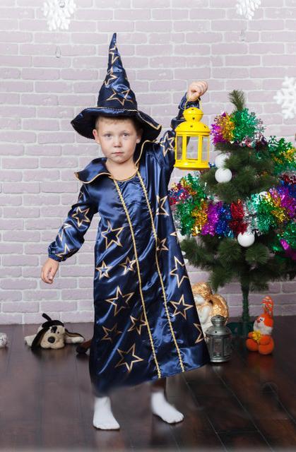 детский карнавальный костюм звездочет или волшебник звездочет фотография