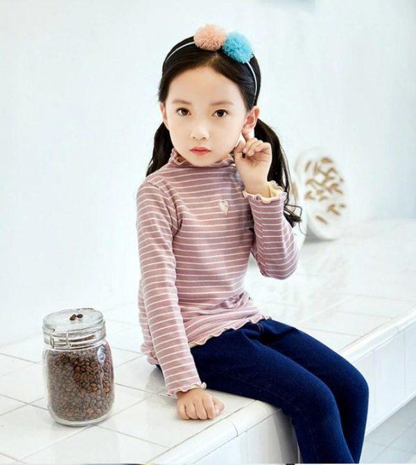 детский теплый джемпер для девочки, сердечко 141218 фотография