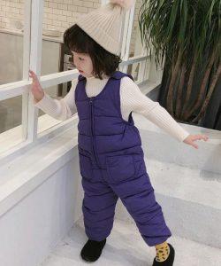 детский теплый полукомбинезон для девочки 3200 фотография