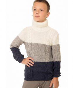 детский теплый свитер для мальчика на зиму 15555 фотография