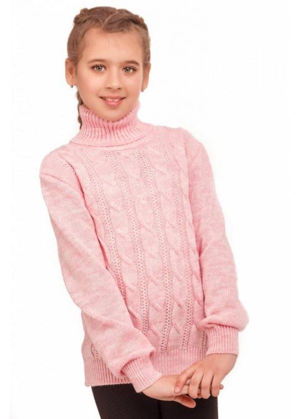 детский теплый свитер на девочку с высоким горлом 1586 фотография