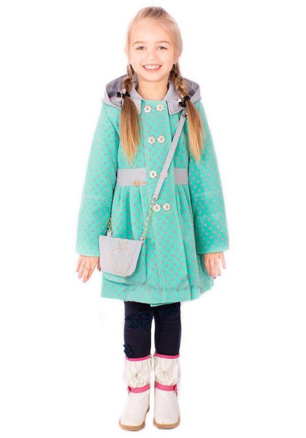 детское кашемировое пальто для девочки с сумочкой 20555 фотография