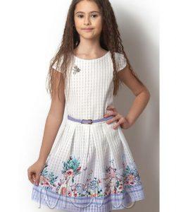 детское красивое платье для девочки домик, размеры 122-146 2468 фотография