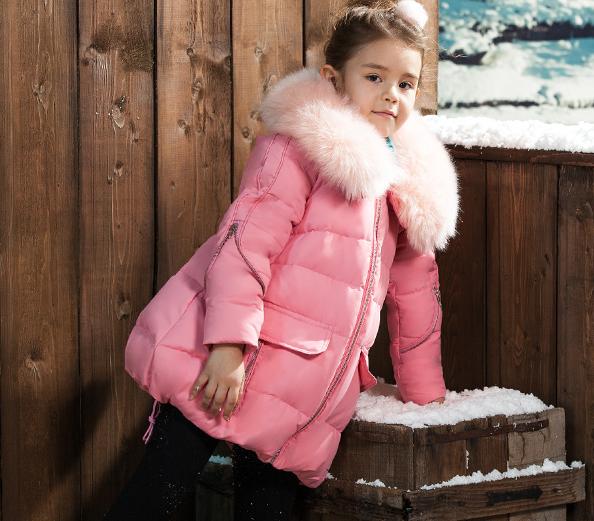 детское зимнее пуховое пальто на девочку 009 фотография