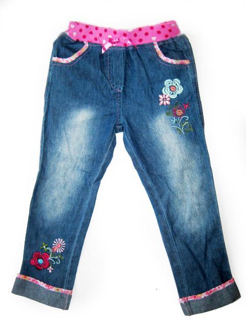 детские качественные джинсы на девочку с вышивкой g3915 фотография
