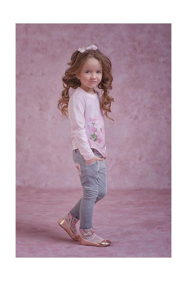 брюки на девочку вельветовые серые прованс 4063 фотография