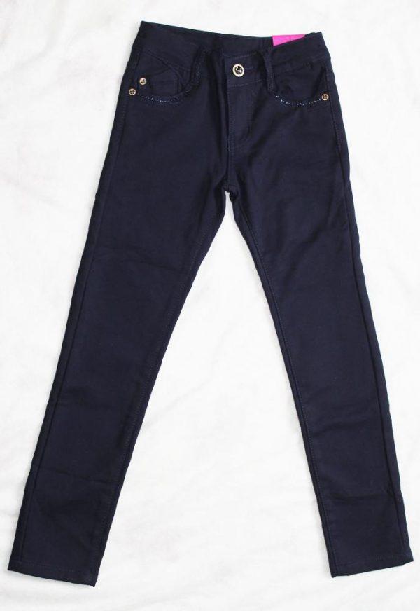 детские теплые брюки на флисе для девочки 91016 фотография