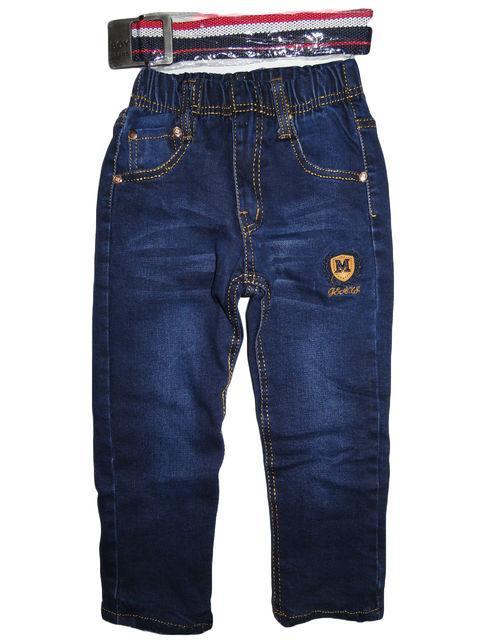 детские теплые джинсы для мальчика на флисе 121016 фотография