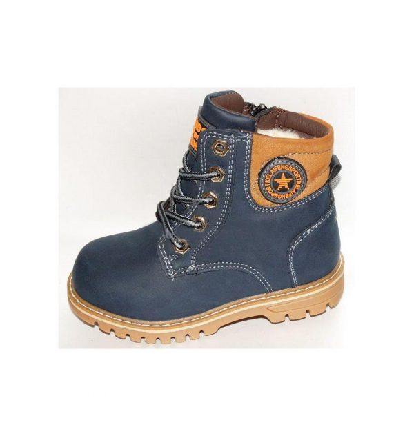 детские качественные зимние ботинки для мальчика 65111 фотография