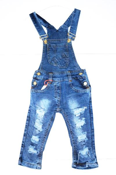 детский джинсовый комбинезон для девочки 203171 фотография