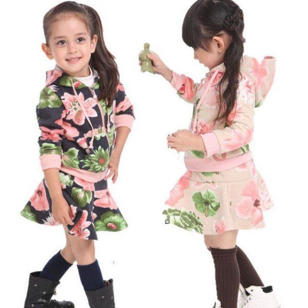 детский костюм для девочки ветровка с юбкой 15104 фотография