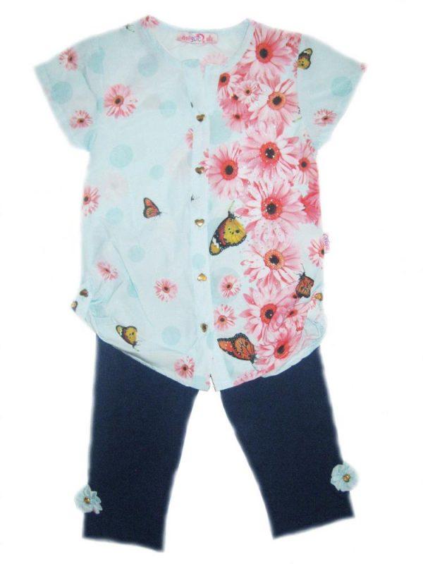 костюм детский летний на девочку с блузкой 310316 фотография