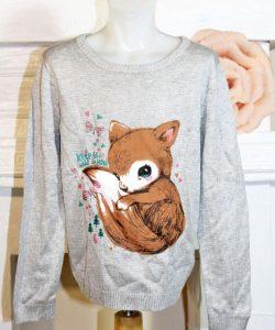 детский свитер на девочку лисенок 151216 фотография