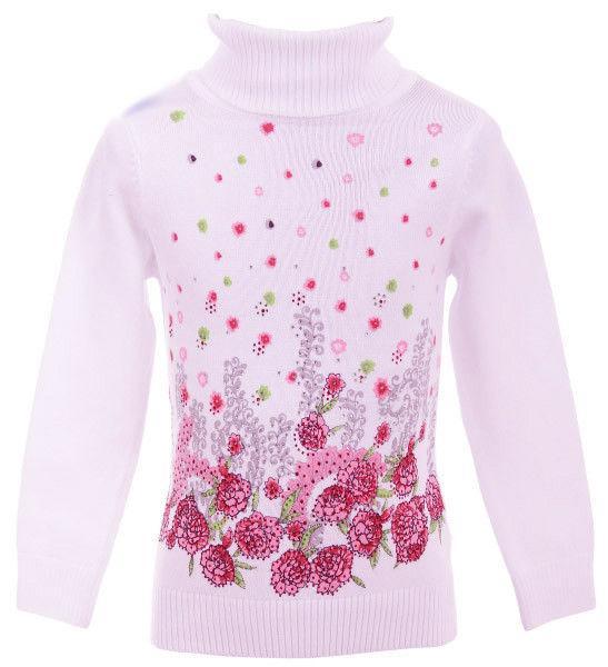 детский свитер на девочку под горло 151115 фотография
