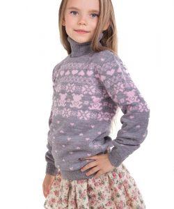 детский теплый свитер на девочку 311016 фотография