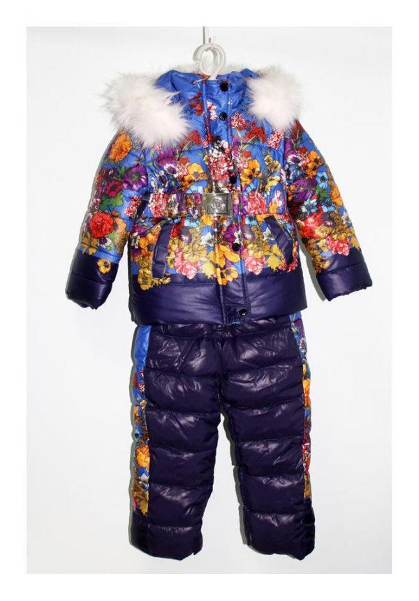 детский зимний комбинезон с курткой для девочки, монклер 1709 фотография