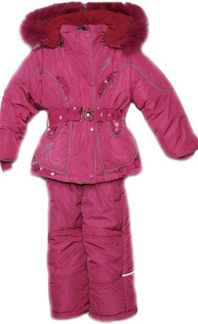 детский зимний комбинезон с курткой на девочку 0007 фотография