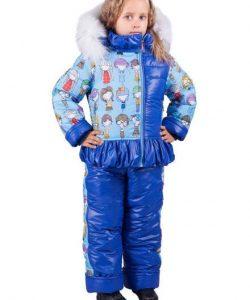 детский зимний костюм с комбинезоном для девочки 2809163 фотография