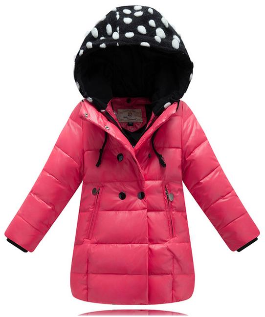 детский зимний пуховик на девочку 711114 фотография