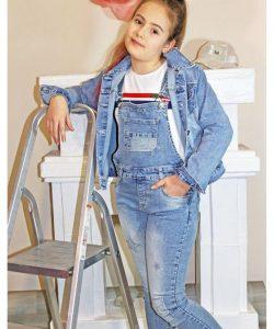 комбинезон для девочки джинсовый звезды 1799 фотография