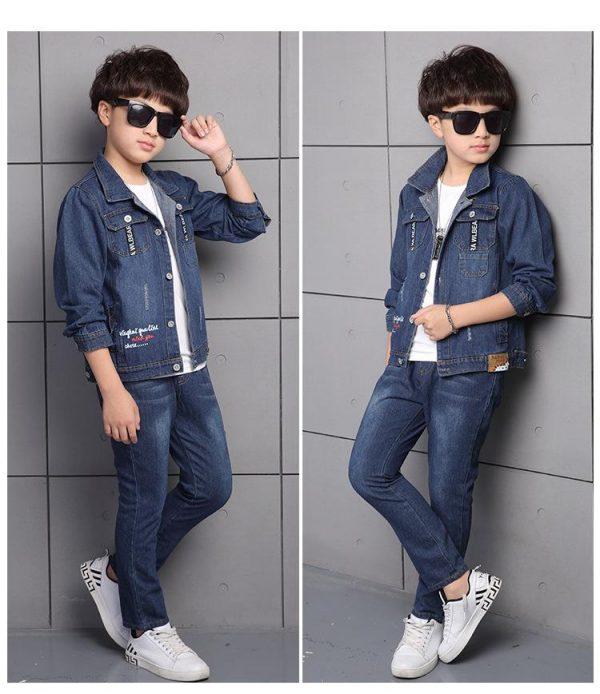джинсовый костюм на мальчика street 220219 фотография