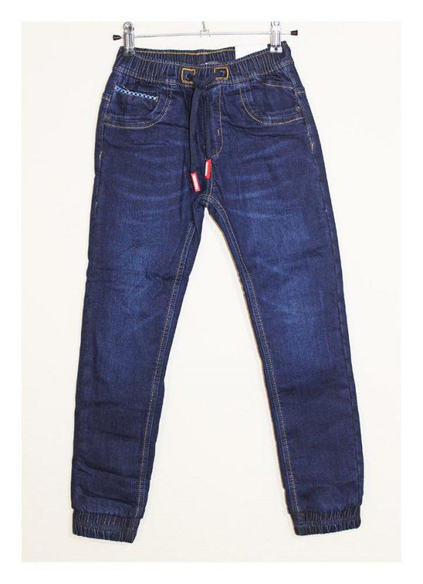 джинсы для мальчика теплые на флисе с манжетами 58080 фотография