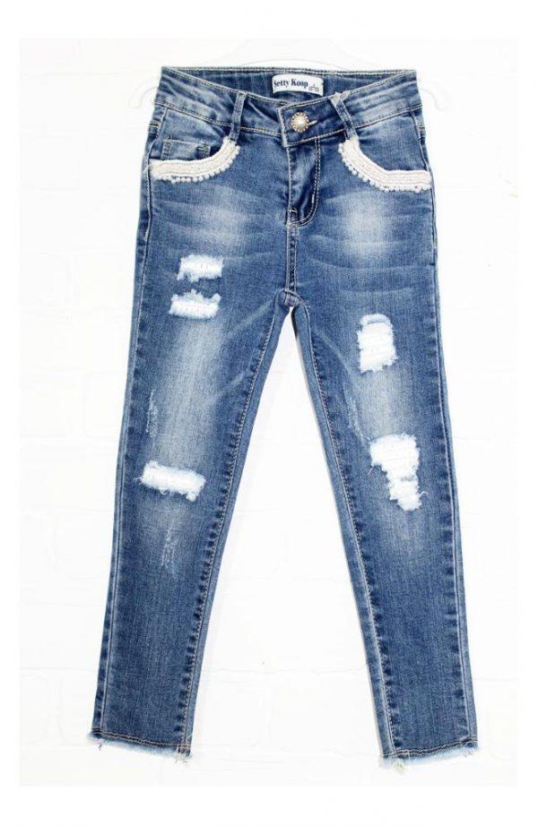 джинсы на девочку жемчужинка 4-12 лет 8319 фотография