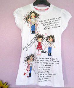 футболка белая для девочки 7041466 фотография