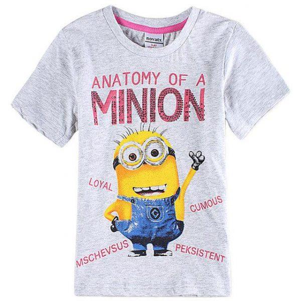 футболка для девочки, минйон c6045 фотография