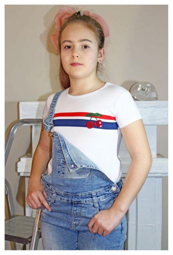 футболка для девочки вишенки 30883 фотография