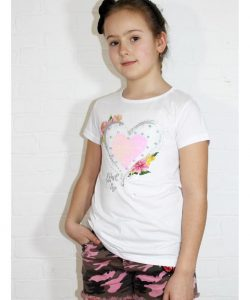 футболка на девочку подростка сердце пайетка 80767 фотография