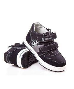 качественные демисезонные ботинки для мальчика черные 63233 фотография