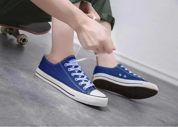 кеды женские синие в стиле конверсы 90991 90991 фотография