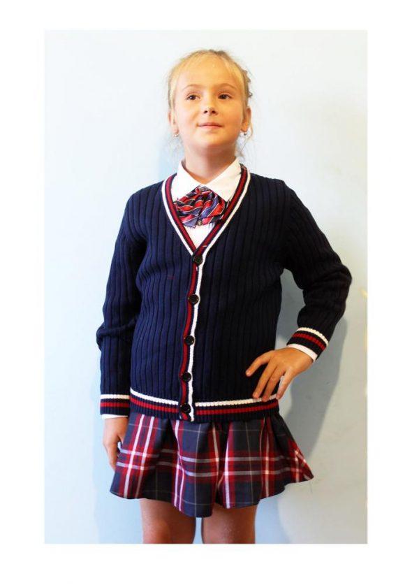 кофта для девочки в школу 2706181 синяя 2706181 фотография