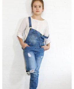 комбинезон джинсовый бойфренды 3829 синий 5-10 лет 3829 фотография