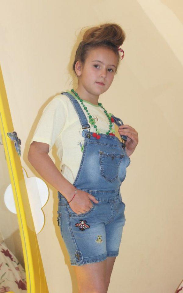 комбинезон джинсовый на девочку гуччи 4066 4066 фотография