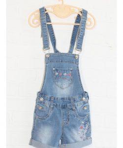 комбинезон джинсовый с шортами на девочку 4046 4046 фотография