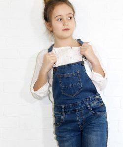 комбинезон джинсовый скини 4500 темно-синий 8-14 лет 4500 фотография