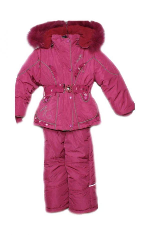 комплект зимний на девочку куртка с полукомбинезоном 291216 фотография